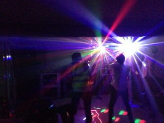 Our Disco lights at a Party in Whangarei