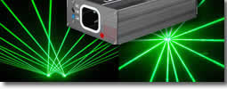 Green coloured laser