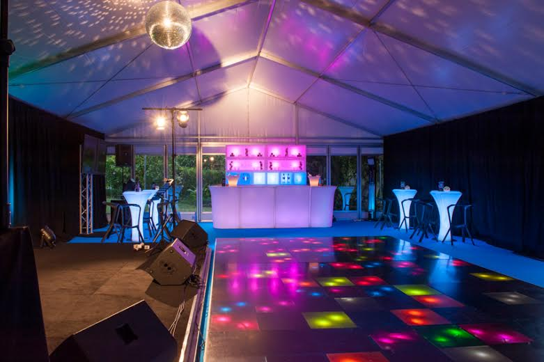 Portable Illuminated Dance Floor at a New Year\'s Event in Auckland